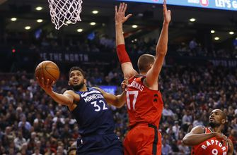 Raptors stage late rally, defeat Wolves 109-104