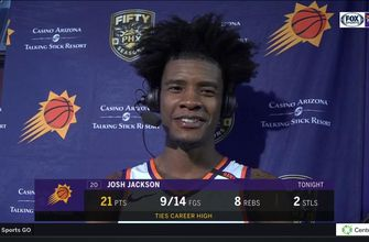 Josh Jackson: 'Today was one of those days when the shots were falling'