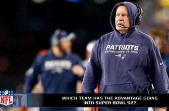 Which team has the advantage in Super Bowl 52?
