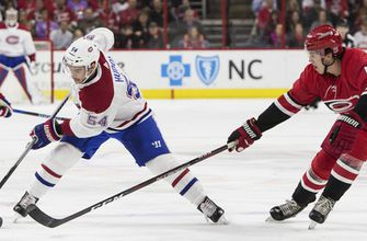 Ward, Hurricanes beat Canadiens 2-0 for 3rd straight win (Feb 01, 2018)