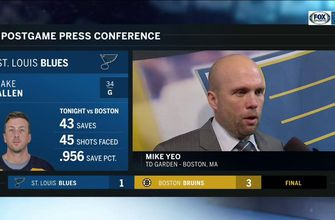 Yeo: 'I'm actually happy for Jake [Allen] … I thought he was outstanding'