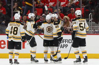 Bruins beat Red Wings 3-2, close in on NHL-best Tampa Bay (Feb 06, 2018)