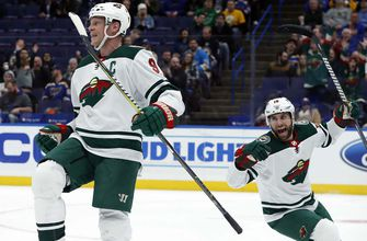 Wild score 6 straight, rout Blues on the road