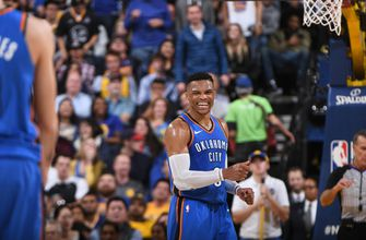 Westbrook, George lead Thunder rout of Durant, Warriors (Feb 07, 2018)