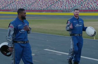 Tyron Woodley and Michael Bisping take on NASCAR stars  Bubba Wallace, Ricky Stenhouse jr. and Austin Dillion | UFC Tonight
