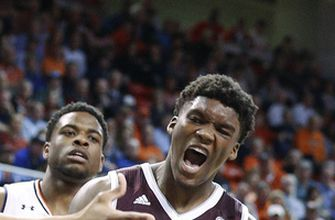 Texas A&M holds on for 81-80 upset of No. 8 Auburn