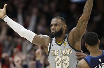 LeBron's buzzer-beater gives Cavs 140-138 OT win over Timberwolves