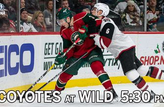 Preview: Coyotes at Wild, 5:30 p.m, FOX Sports Arizona