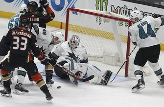 Sharks rally for 3-2 shootout win over Ducks