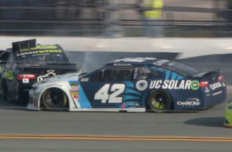 Kyle Larson and Jimmie Johnson comment on their last-lap wreck in The Clash