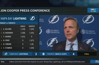 Jon Cooper: When you give up 4 goals, it is hard to get points